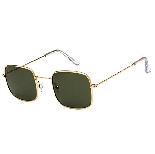 Películas De Sol Metal Gafas Oscuro Sol Marinas Ketamyy De Retro Marco Unisexo Marco Cuadradas De Gafas Transparente De Dorado Verde Moda axSwYq7Aw