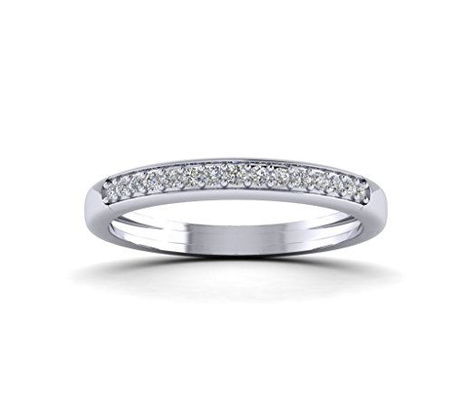 Fehu Jewel Women's 0.13ct Natural Diamond Solitaire Ring Best Pave Prong Setting Ring for Special Occasion - Natural Diamond Mens Ring