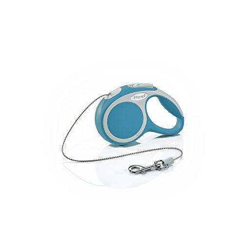 Leash Flexi Cat - Flexi Vario Retractable Dog Leash (Cord), 10 ft, Extra-Small, Turquoise