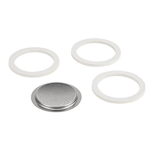 - Bialetti Stainless Steel Gasket Filter Plate Replacement Parts, 4-Cup Venus, Musa, Kitty