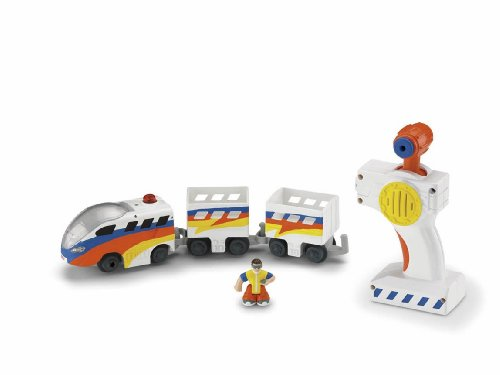 (Fisher-Price GeoTrax Rail and Road System RC Set with Figure Assortment)