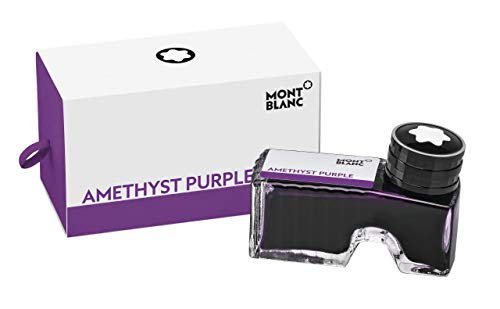 Montblanc Ink Bottle Lavender Purple 105196 - Premium-Quality Refill Ink in Dark Purple for Fountain Pens, Quills, and Calligraphy Pens - 60ml Inkwell