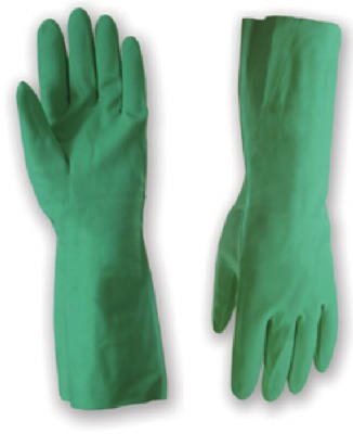 Wells Lamont 15 Mil Nitrile 13-Inch Glove with Gauntlet, Flocked Liner and Embossed Grip