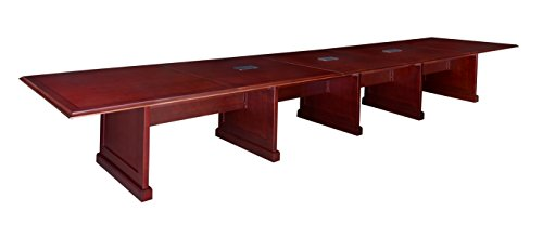 Regency Prestige 240-Inch Modular Conference Table with Power Data Grommets, (Mahogany Rectangular Conference Table)