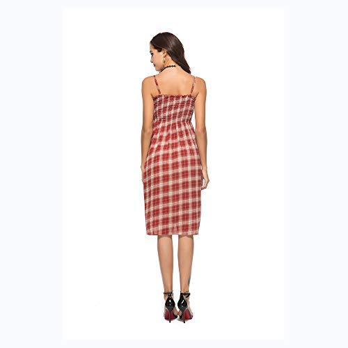 Broken Flower Dress De Red Plage Rg512 National Manches GR Style sans Shabohemia Jupe ROYCq