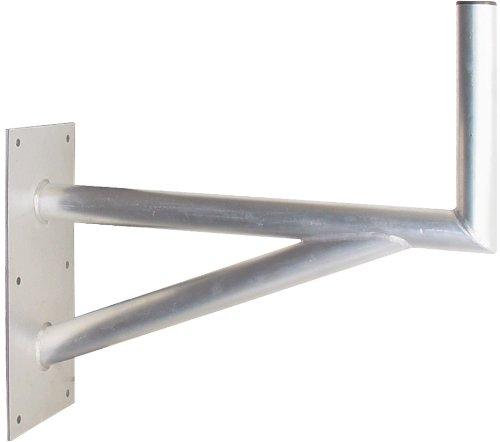 Transmedia FSATNL Sat-Wandhalterung mit Stützelement (Auslegerlänge/-höhe 600/300mm, Grundplatte 400x200) aluminium