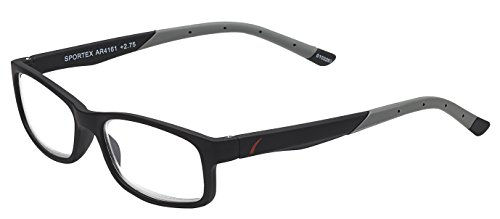 Sportex Readers Men's Plastic Frame Reading Glasses Anti-Glare Gray, 2.50 from Select-A-Vision
