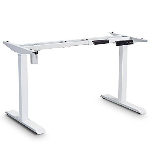 - Tangkula Electric Standing Desk Frame, Single Motor Adjustable Height&Width Standing Desk Ergonomic Motorized Sit to Stand Desk with Memory Preset Handset Controller, Motorized Table (White)