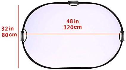 Selens 5 en 1 Reflector de Luz Oval 80x120CM Plegable Portátil con ...