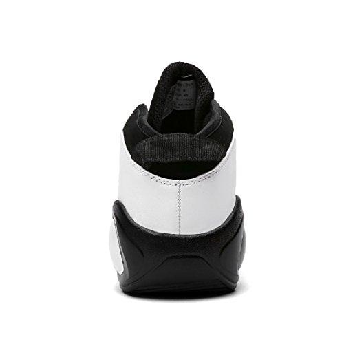 Hombres Zapatos deportivos Formación Respirable Antideslizante a prueba de agua Zapatos de basquetbol Deportivos White