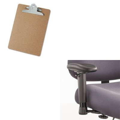 KITSAF3591BLUNV40304 - Value Kit - Safco Height/Width-Adjustable T-Pad Arms for Optimus Big amp; Tall Chairs (SAF3591BL) and Universal 40304 Letter Size Clipboards (UNV40304) Office Chair Tpad Arms