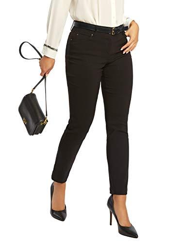 89th + Madison Women's Five Pocket Stretch Straight Leg Pants