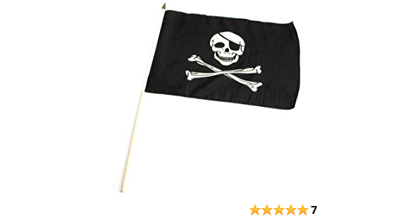 12 in x 18 in Pirate Flag Gold Flappin/' Flags Pirate for Life