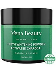 Natural Tooth Whitening (Teeth Whitening Activated Charcoal Powder - From Organic Coconut Shell and Food Grade Formula - All Natural Spearmint Flavor Tooth Whitener)