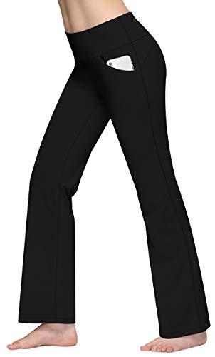 CUGOAO Bootcut Yoga Pants with Pockets for Women, High Waist Bootleg Dress Pants, Workout Pants for Women