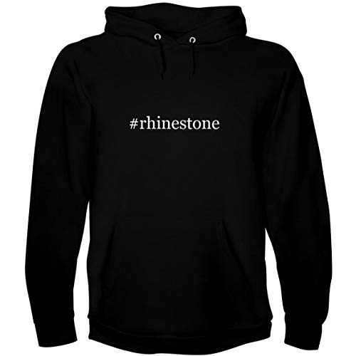 (The Town Butler #Rhinestone - Men's Hoodie Sweatshirt, Black, X-Large)