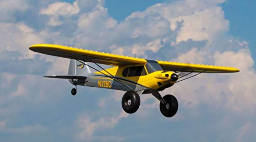 HobbyZone Carbon Cub S+ 1.3M RTF RC Airplane with Safe | 2.4Ghz TX/RX Radio System| 1300mAh 3S 11.1V 20C Lipo Battery | DC Charger & AC Adapter
