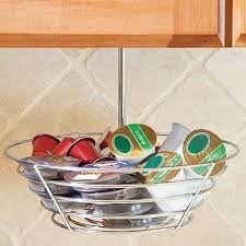 Lipper International Coffee Carousel, 5 Ring Under The Counter Hanging Coffee Pod Storage Holder for Keurig Vue Packs, Keurig K-Cups, Nespresso Capsules, CBTL/Verismo Pods or Tassimo T-Discs - 10