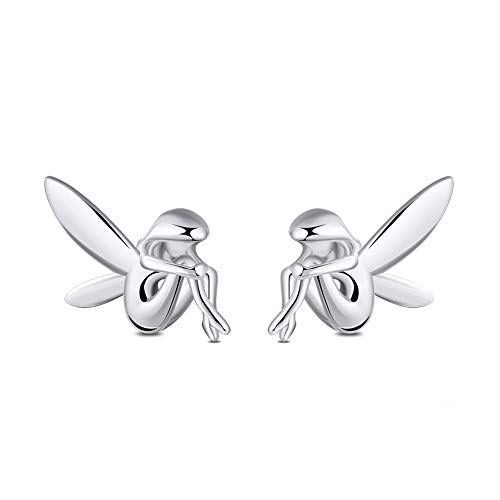 Fairy Sterling Silver Girls Ladies Stud Earrings Ginger Lyne Collection
