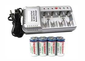 Amazon.com: Vanson v-1199 Cargador de batería universal + 8 ...