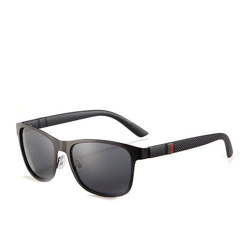 Hombres Cuadrados Sol Humo Moda para Smoke la Sol de Hombres Black Gafas TL los polarizadas Negro C2 C2 Gafas Gafas Viaje de para Sunglasses de Orientación de tqxn6wnBvC