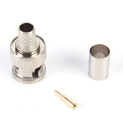 Bnc Plug Crimp 3 Piece - FidgetKute 10 Sets 3-Piece BNC Male RG58 Plug Crimp Connectors_H