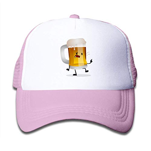 QKBUY Root Beer Mesh Back Cap Trucker Baseball Hat for Boys Adjustable Pink ()