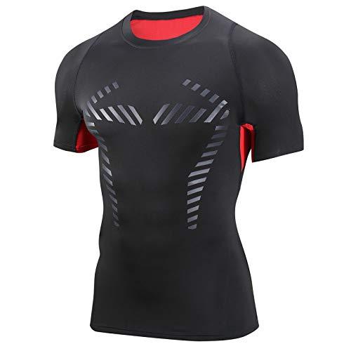 AMZSPORT Mens Compression Shirt Short Sleeve Cool