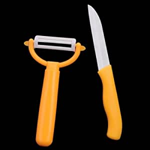 BESTLEAD Professional Kitchen Ceramic Knife and Ceramic Peeler - Yellow