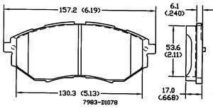 Power Stop 16-1808 Z16 Evolution Rear Ceramic Brake Pads