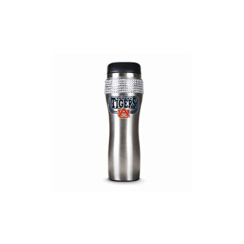 - Great American Products NCAA Auburn Tigers Stainless Steel Bling Tumbler, 14 oz, Silver/Black