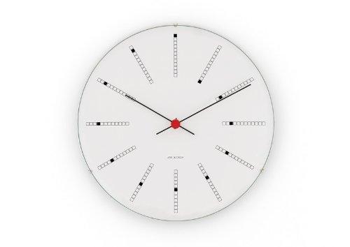 Reloj de pared minimalista estilo Arne Jacobsen
