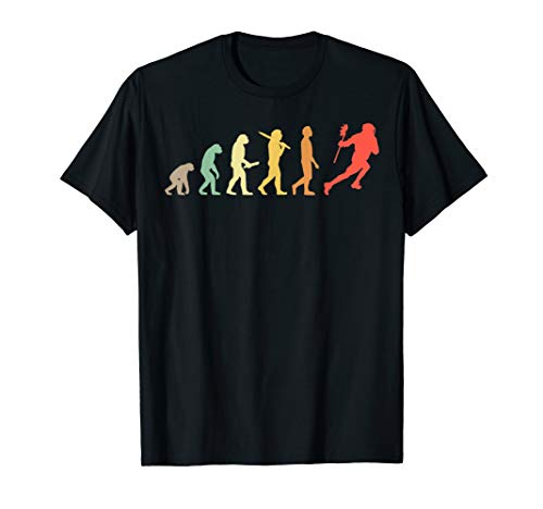 Retro Lacrosse Evolution Gift For Lacrosse Players T-Shirt