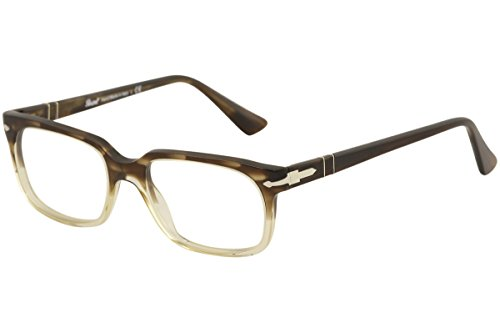 PERSOL Eyeglasses PO 3131V 1037 Striped Brown/Gr Transparent - Mens Glasses Persol