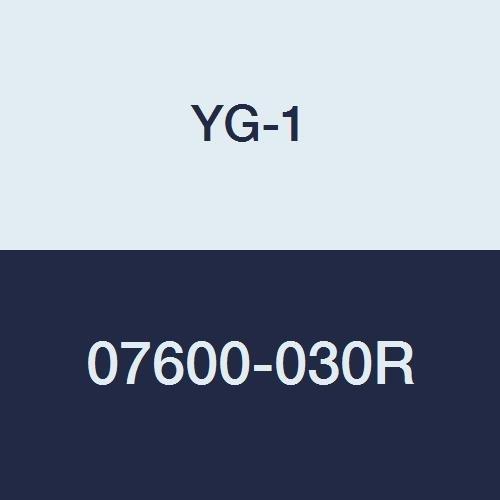 4 Length YG-1 07600-030R Carbide Corner Radius End Mill Regular Length 1 4 Flute Uncoated Finish