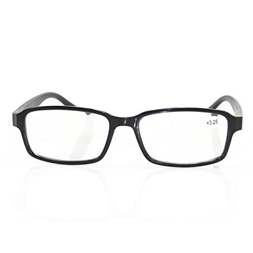 Bubile Unisex Reading Glasses, Presbyopia Glasses1.0/ 1.5/ 2.0/ 2.5/ 3.0 /3.5/4.0/4.5 (Black, - Difference Plastic Between Glass And Lenses