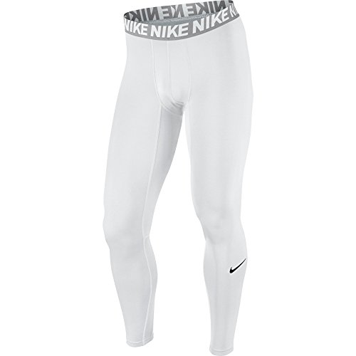 NIKE Men's Base Layer Training Tights, White/Matte Silver/White/Black, Medium