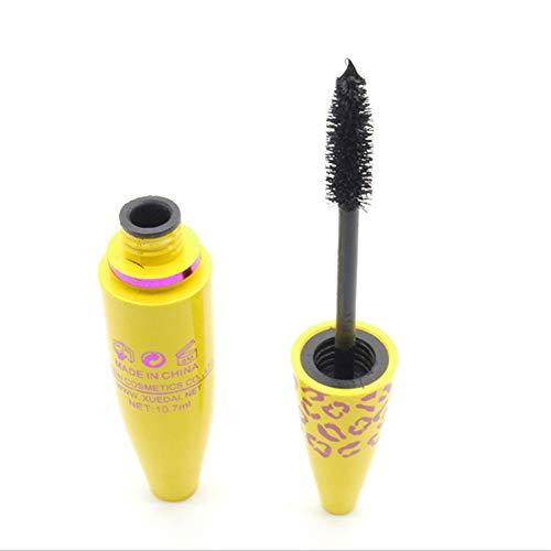 LAIWUSSY Leopard Yellow Tube Volumizing Dense Makeup Mascara Set Mascara Volume Express False Eyelashes Makeup Waterproof Cosme
