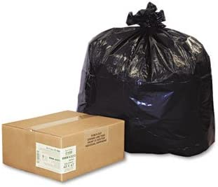 56 Gal. 2.0 Mil 43 X 47 Recycled Can Liners WEBRNW4320 Black 100//carton