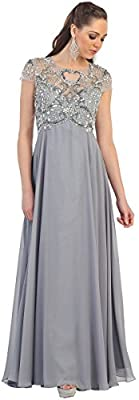 May Queen MQ1100 Formal Mother Of The Bride Evening Dress