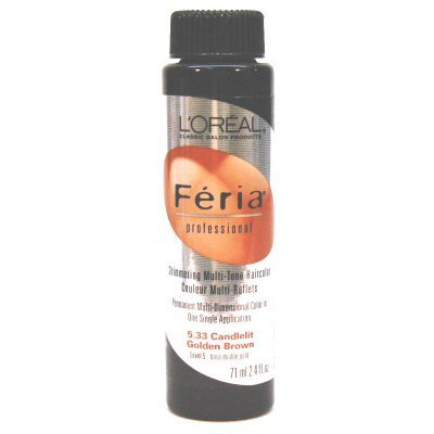 L'Oreal Feria Color # 5.33 2.4 oz. Candlelight Golden Brown by L'Oreal Paris