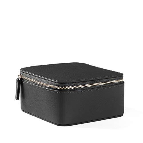 Medium Jewelry Organizer - Full Grain Leather Leather - Black Onyx ()