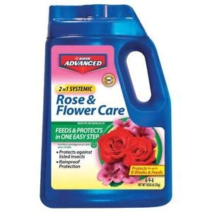Advanced Bayer Rose and Flower Care 2-in-1 Systemic Granular, 10 Pound (Bayer All In One Rose And Flower Care)
