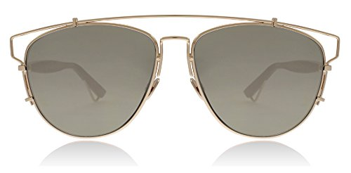 Christian Dior Technologic D2X Gold Burgundy Technologic Oval Sunglasses Lens - Dior Sunglasses C