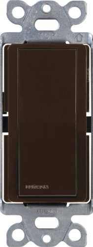 Lutron Claro On/Off Switch, 15-Amp, Single-Pole, CA-1PS-BR, Brown