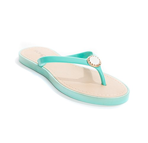 - Soho Shoes Women's Pearl Jelly Flop Flop Thong Sandal