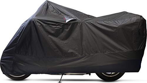Dowco Guardian 50020-00 WeatherAll Plus Indoor/Outdoor Waterproof Motorcycle Cover, EZ Zip: Black, ()