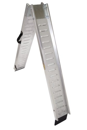(Motorsport Products 91-7101 Silver 7' Folding Aluminum V-Ramp)