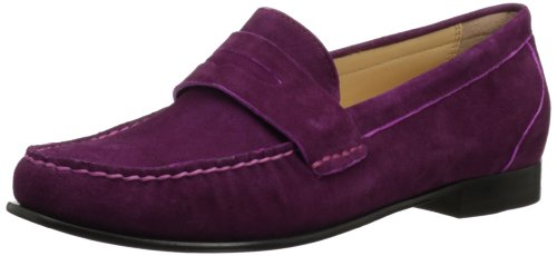 Cole Haan Women's Monroe Penny Loafer,Winery Suede,6.5 B (Air Penny Moc)