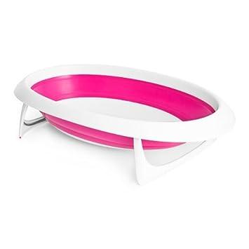 Amazon.com: Boon desnudo plegable tina de bebé, rosa color ...